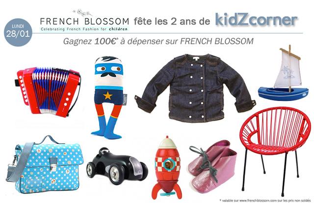 kidZcorner fête ses 2 ans # FRENCH BLOSSOM