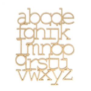 Cadre alphabet en bois