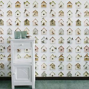 Papier peint Birdhouse