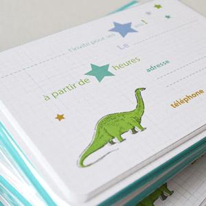 cartes d invitation anniversaire dinosaures l 39 encre violette kidzcorner. Black Bedroom Furniture Sets. Home Design Ideas
