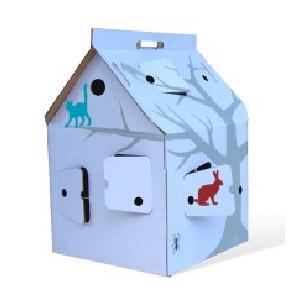 casa cabana maison en carton kidsonroof kidzcorner. Black Bedroom Furniture Sets. Home Design Ideas