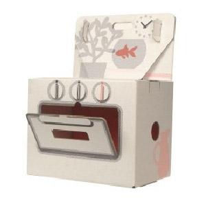Cuisinière en carton recyclé