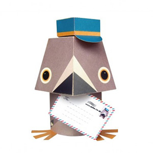 Pigeon voyageur en papier
