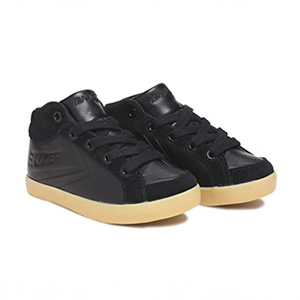 Baskets Delta Kid en cuir noir