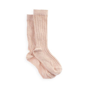 Chaussettes lurex rose