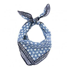 Foulard carré Etoiles bleu