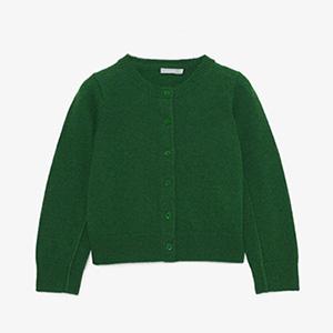 Gilet lambswool vert