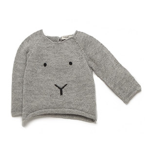 Pull lapin gris
