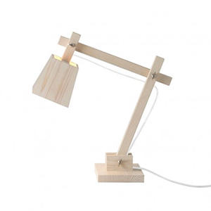 Lampe de bureau en bois