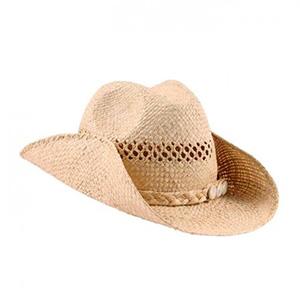Chapeau de cowboy avec coquillages