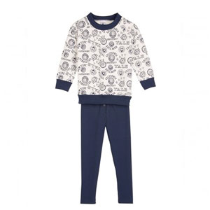 Pyjama jersey imprimé vintage