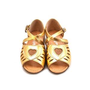Sandales coeur gold
