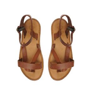 Sandales lanières camel