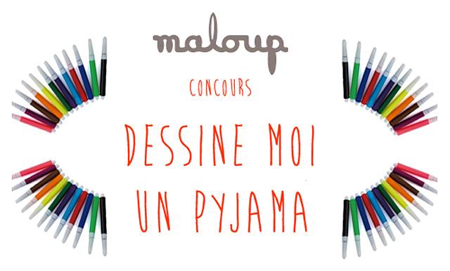 Concours Maloup : Dessine moi un pyjama