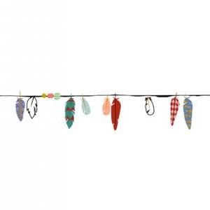 Frise plumes multicolore