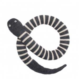 Doudou serpent rayé