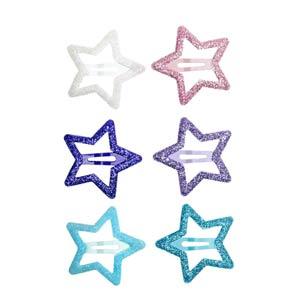 Lot de barettes étoiles