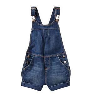 Salopette courte en jeans