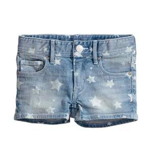 Short en jeans à étoiles