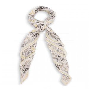 Foulard fleurs et lurex