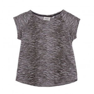 T-shirt lin Zébré