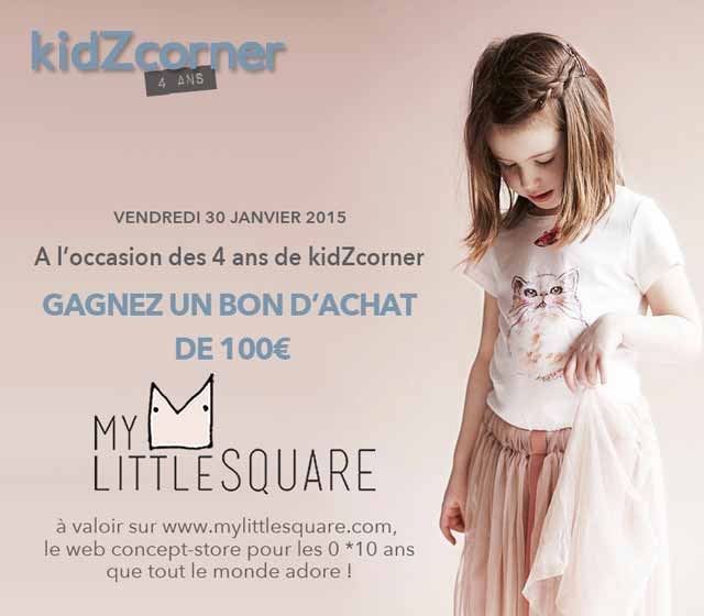 Anniversaire 4 ans kidZcorner avec My Little Square