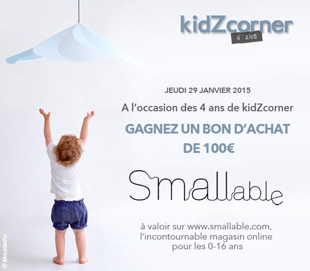 Anniversaire 4 ans kidZcorner avec smallable