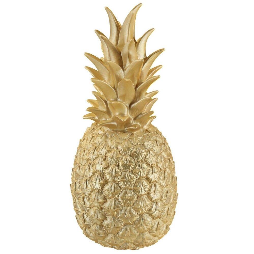Lampe Ananas doré