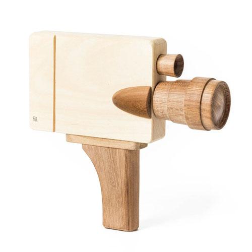 Caméra vidéo en bois