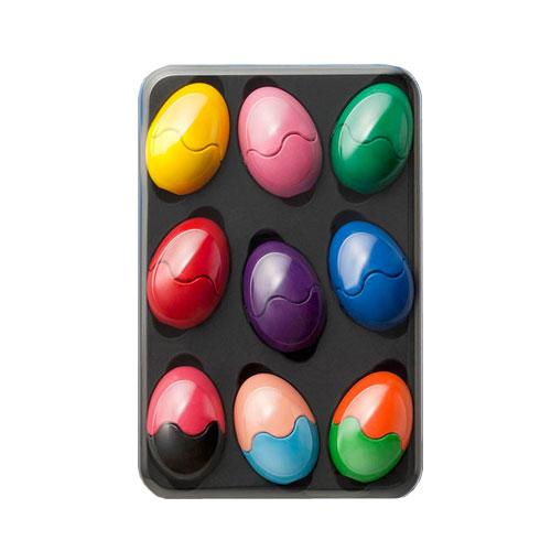 Crayons de couleur œufs