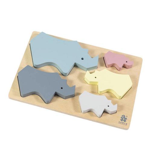 Puzzle Rhino en bois