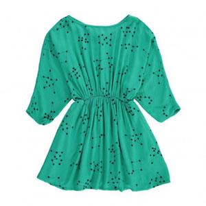 Robe taille resserrée verte