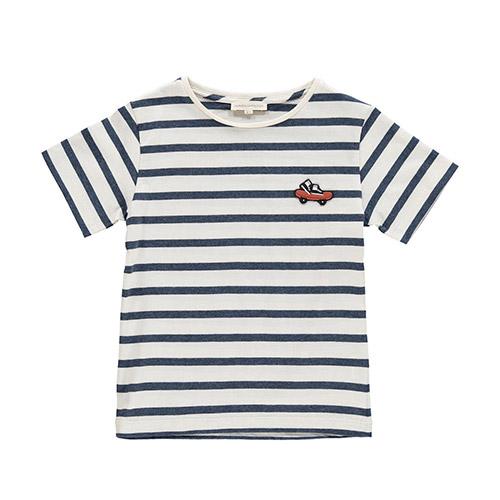 T-shirt rayé bleu Skate
