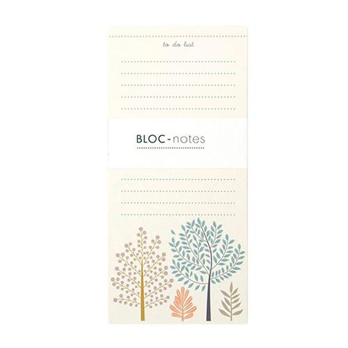 Bloc Note Arbres