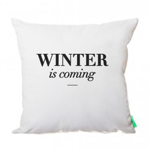 Coussin Winter is coming