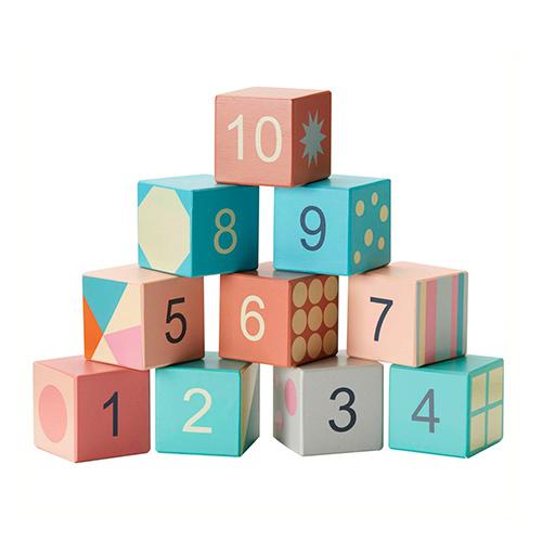 Cubes à empiler Pastel