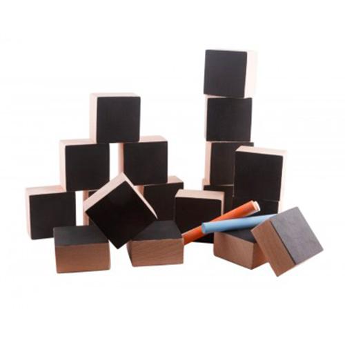 Cubes de contruction avec ardoise