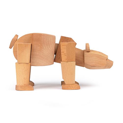 Figurine Ursa l'our en bois