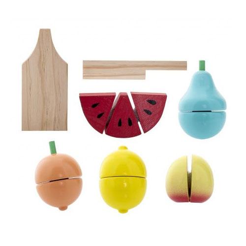 Fruits à couper en bois