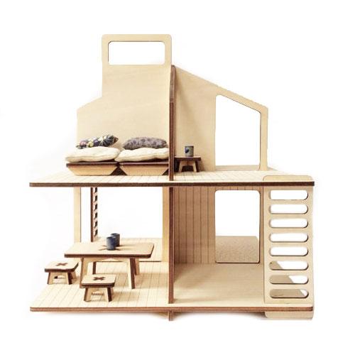 Maison de poupée et son mobilier