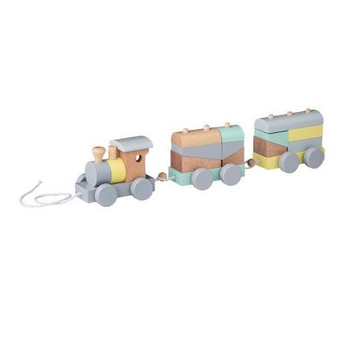 Train de cubes à tirer