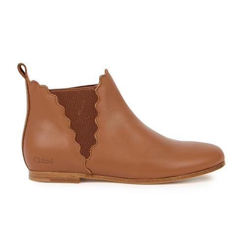 Boots cuir camel