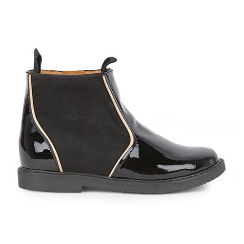 Boots vernis noires