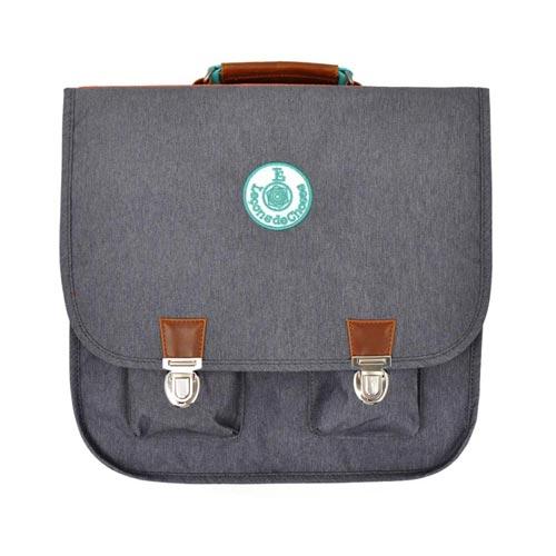 Cartable vintage gris