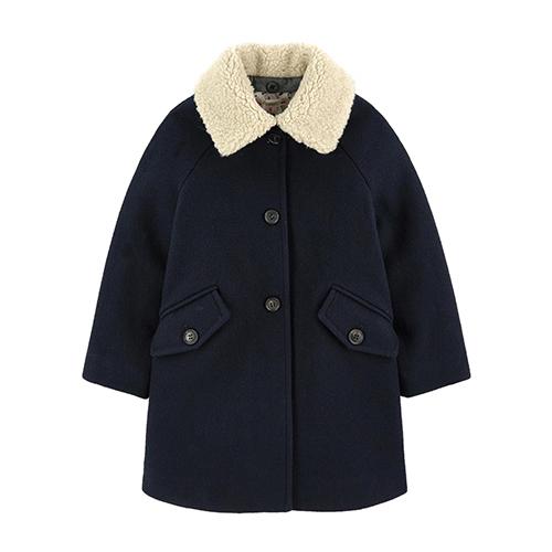 Manteau en laine navy