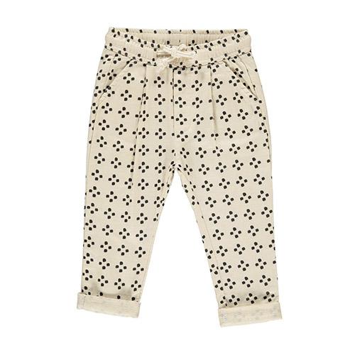 Pantalon graphique ivoire