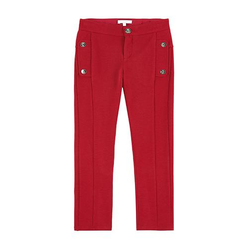 Pantalon jersey rouge