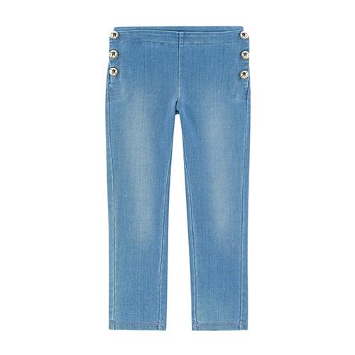 Pantalon taille haute denim