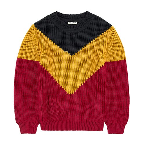 Pull en laine tri-colore
