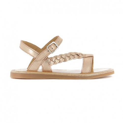 Sandales Plagette cuivre